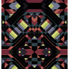 Dark Black Geo Mirrored Pattern Lime (Original)