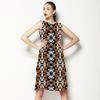 Ethnic Geo Orange. (Dress)