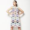 Pastel Half Moon Elipse Pattern (Dress)