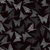 Origami Butterflies Black Art (Original)