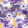 Purple and Yellow Watercolour Floral (Original)