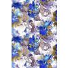 Blue Abstract Flower Pattern Design (Original)
