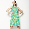 Blue Green Coastal Paisley Vector (Dress)