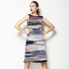 Abstract Mountains Clouds Grass Futuristic Ombre (Dress)
