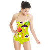 Butterfly Party, All Over, Floral Pattern (Swimsuit)