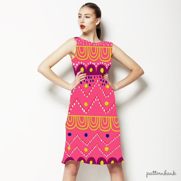 Pink Geometric Tribal Stripe