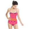 Pink Geometric Tribal Stripe (Swimsuit)