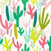 Pretty Pastel Cactus (Original)