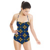 Blue and Golden Tiles (Swimsuit)