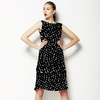 Black and White Abstract Seamless Textile Pattern (Dress)