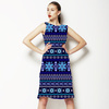 Tonal Blue Fairisle (Dress)