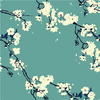 Cherry Blossoms in Aqua (Original)
