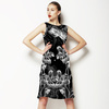 Black and White Flowers--Ck1115 (Dress)