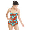 Abstract Line Checks (Swimsuit)
