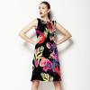 Vivid Floral Glitch (Dress)